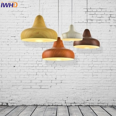 Nordic Pendant Lights LED Aluminum Wood Grain Lampshade Lamparas Colorful Pendant Lamp For Home Lighting E27 Base Light FixturesNordic Pendant Lights LED Aluminum Wood Grain Lampshade Lamparas Colorful Pendant Lamp For Home Lighting E27 Base Light Fixtures