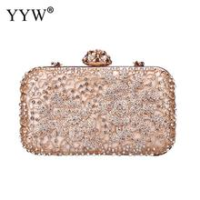 Pink Diamonds Women Evening Bags Small Purse Clutches Handbags Silver Gold Black Rhinestones Evening Bags For Wedding Handbag цена в Москве и Питере