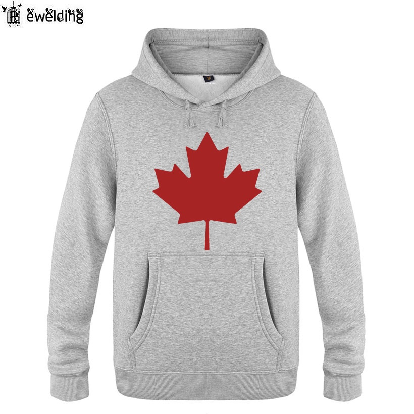 Mens Hoodies Canada or Toronto Maple Leaf Printed Hoodie Men Fleece Long Sleeve Mans Sweatshirt Pullover Hip Hop Streetwear ...