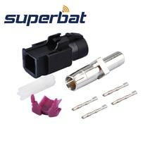 Superbat Car HSD кабель Fakra черный/9001 обжимные клещи со штекера на гнездо прямой ВЧ коаксиальный разъем для Dacar 535 4 полюса кабель