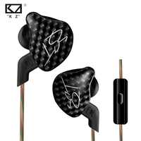New KZ ZST In Ear Earphone 1DD With 1BA Hybrid Drive HIFI Earphone Running Sport Earphones