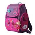 Alta calidad marca Delune Super light 3D reflectante niños envío Doll niños del bolso de escuela los estudiantes de dibujos animados mochila de la muchacha bolsa de viaje