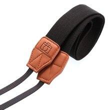 Cotton Leather Camera Shoulder Neck Belt Polyester Strap Black For Olympus Canon Nikon