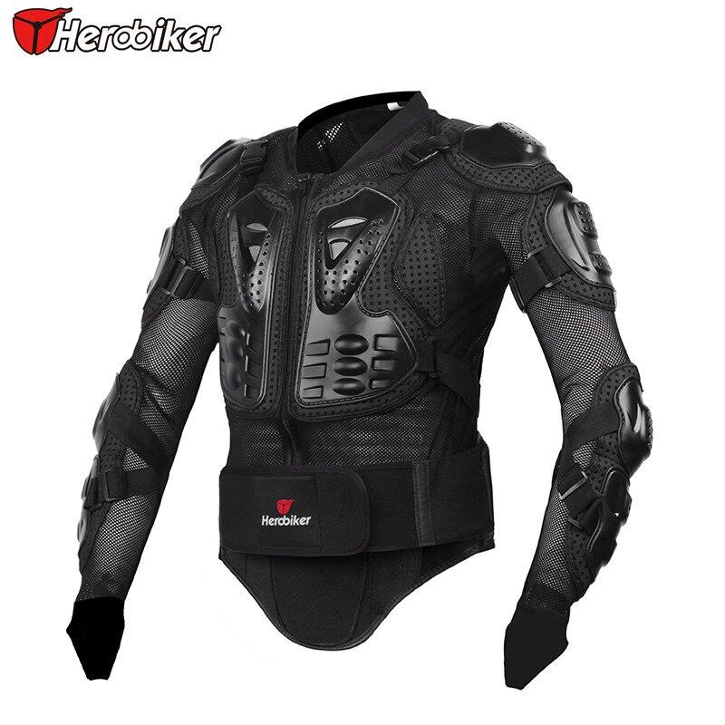Herobiker moto équitation Protection du corps Motocross pleine colonne vertébrale poitrine veste de Protection Gear dos soutien gardes - 4