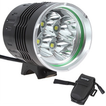 High Quality SecurityIng Head lamp Light 2400 Lumens 4 x XM-L T6 LED Headlamp Bicycle Light + 4000mAh Battery Pack