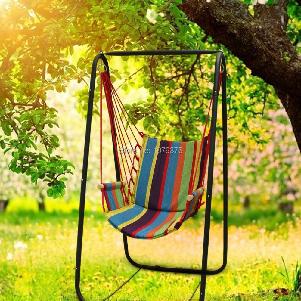 Canvas Hammock Hanging Chair Patio Swing Outdoor Rock Chair Indoor,outdoor  Swing Rocking Chair Garden ...