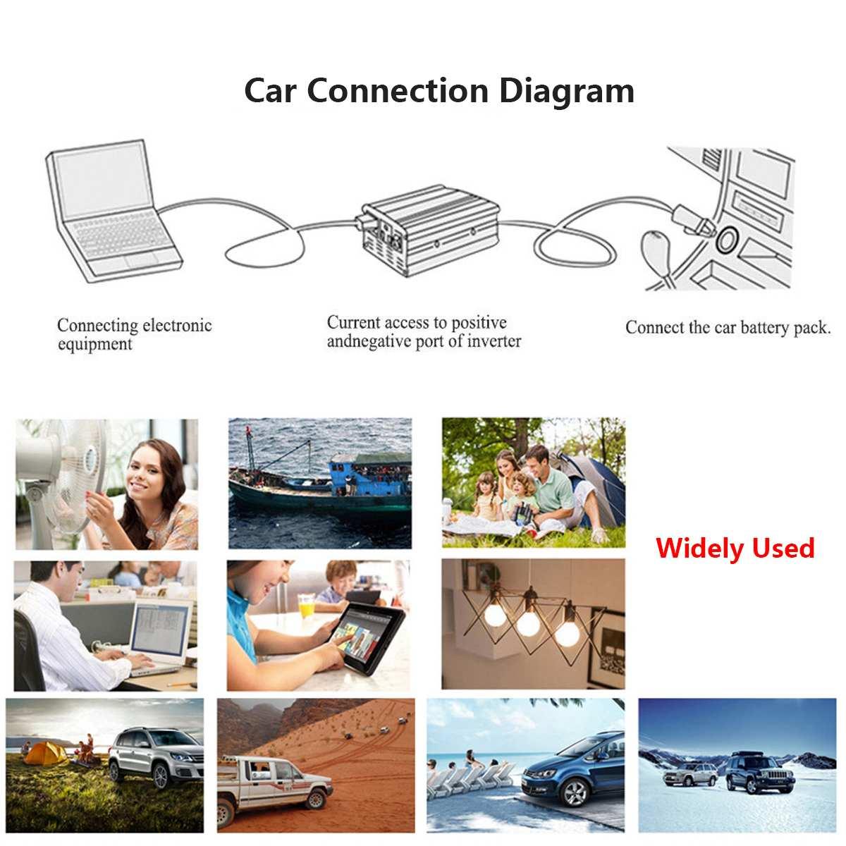 1500W Pure Sine Wave Inverter DC12V/24V/48V To AC220V 50HZ Power Converter Booster For Car Inverter Household DIY 18