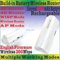 EnglishFirmware 4G300 TENDA Беспроводной 300 Мбит/С 3 Г 4 Г Портативный Маршрутизатор 300 М Путешествия Wi-Fi Внутренний 2600 мАч Питания банк TD/FDD-LTE Модем