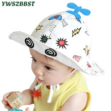 Summer Children Hat Sunhat Baby Boys Sun Kids Fisherman Girls Sunscreen Caps Plane for 0-2 years old Wear