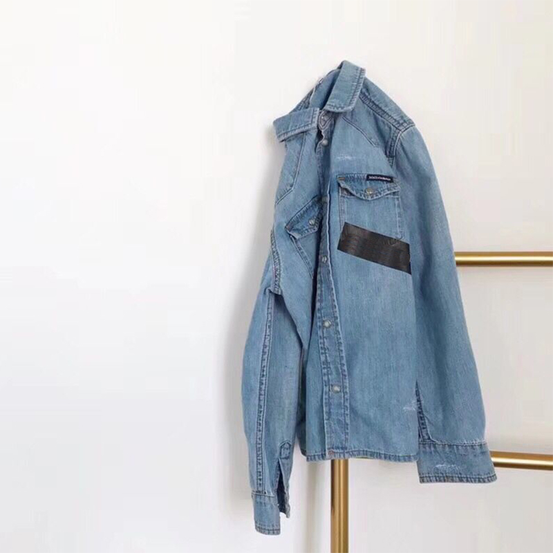 Kids Denim Jacket for Girls Child Jeans Coat Lapel Cardigan Outwear Coat Boys Jackets peak lapel pocket wool blend pea coat