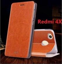 Mofi оригинальный для xiaomi redmi 4x case с подставкой функция redmi 4x флип case кожа жесткий назад кремния coque принципиально 5″