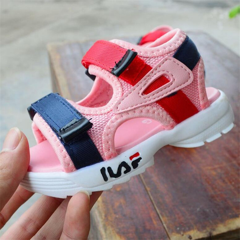Girls Sandals 2019 Summer New Boys Sandals Roman Shoes Beach Shoes Girls Open Toe Shoes Flat Baby Toddler Shoes Black Pink White