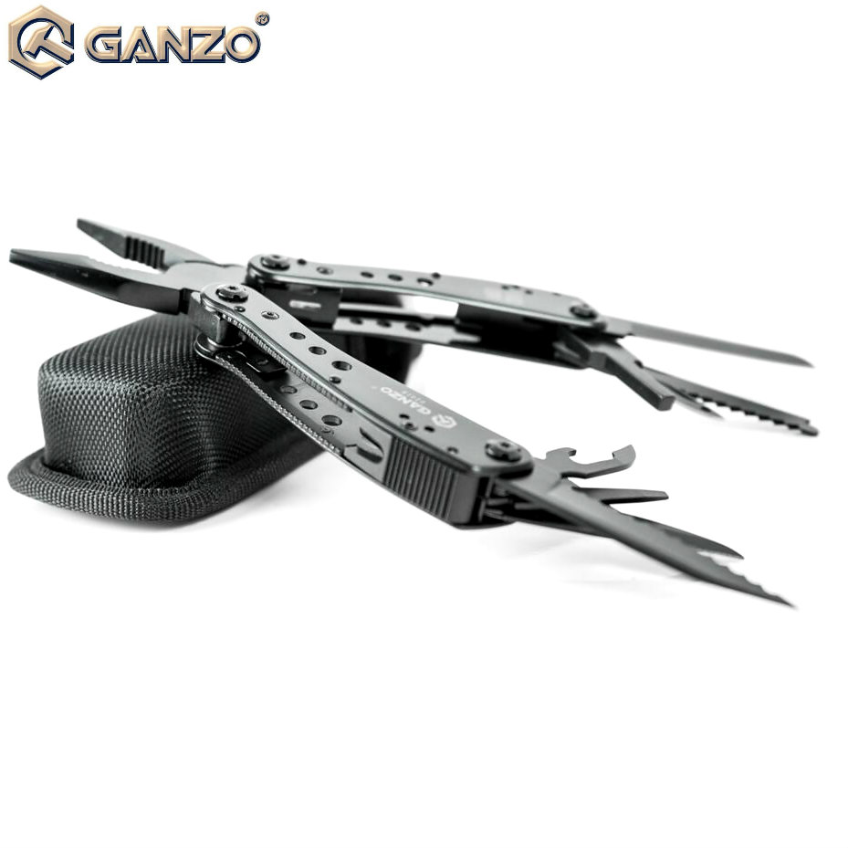 <font><b>Ganzo</b></font> G201 G201-B <font><b>G201B</b></font> 22in1 Multi Pliers Multi Tool Camping Tool w/ Nylon pouch with Screwdriver Kit Camping Climbing Hiking image