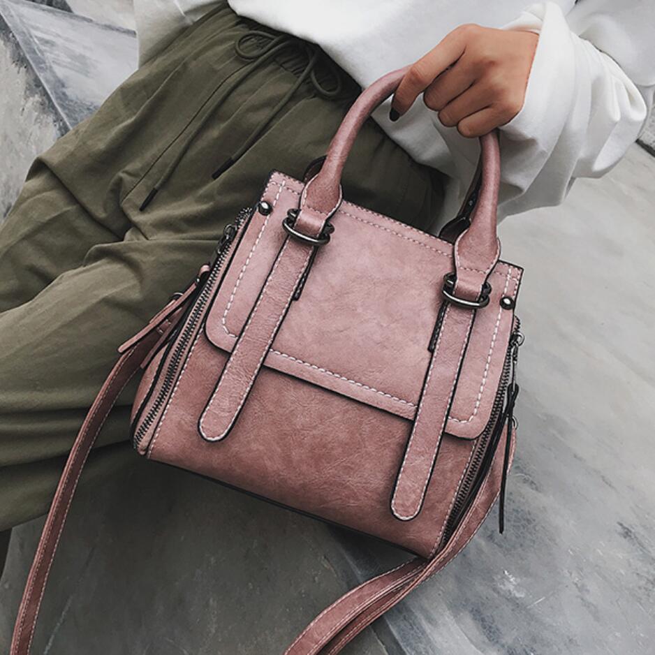 Vintage Fashion Female Tote bag 2018 New High quality PU Leather Women's Designer Handbag Ladies Large Shoulder Messenger Bags цена 2017