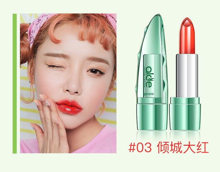 100% Natural Aloe Vera Gel Moisturising Lipstick/Lip Balm - Long Lasting Waterproof 24