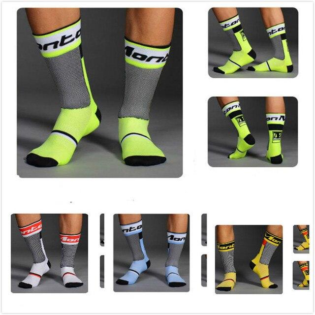 Для Мужчин's Для женщин велосипедные носки с лого команды велосипед обувь четыре Цвет чулки сапоги цилиндрической формы