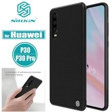 Nilkin עבור Huawei P30 פרו מקרי NILLKIN מרקם קשיח מחשב + רך TPU יוקרה קשיח מחשב פלסטיק מלא מקרה טלפון כיסוי עבור Huawei P30