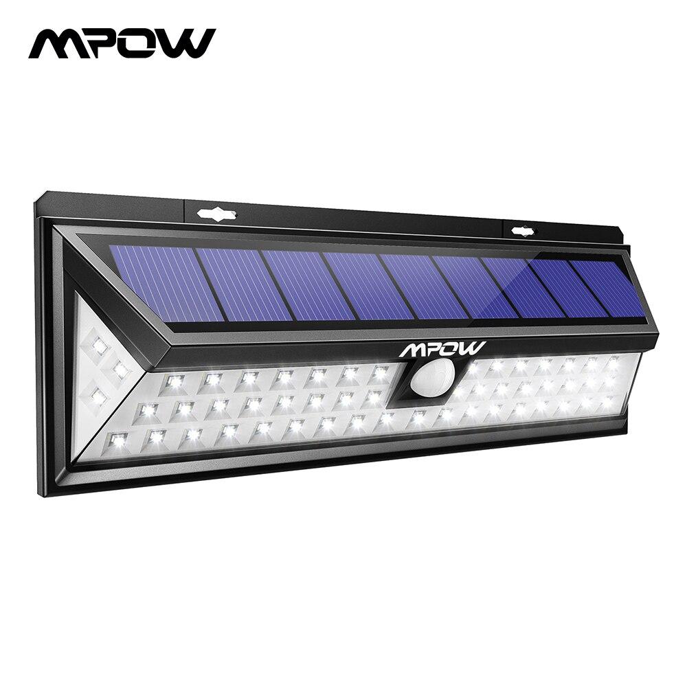 Mpow CD020 54 LED veilleuse IP65 étanche solaire lumières grand angle LED solaire alimenté lampe extérieure pour jardin mur cour Patio