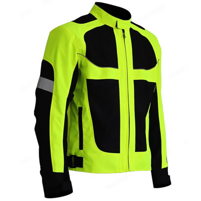 Men's Summer Motorcycle Jacket Motocross Racing Reflective Safety ...