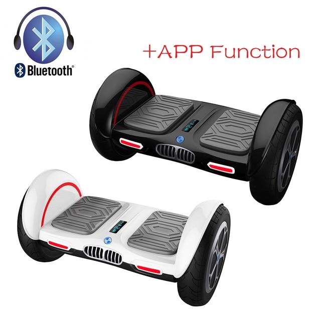 Iscooter новый 10 дюймов ХОВЕРБОРДА Bluetooth и приложение giroskuter 2 колеса балансируя gyroscooter Hover доска два колеса oxboard
