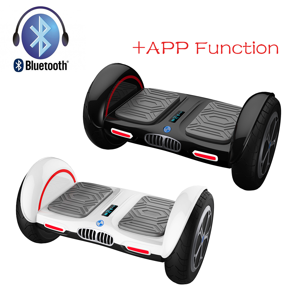 iScooter New 10 inch hoverboard bluetooth and APP Giroskuter 2 Wheel Self balancing Gyroscooter Hover board Two Wheel Oxboard 6 5 adult electric scooter hoverboard skateboard overboard smart balance skateboard balance board giroskuter or oxboard