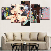 Home Decoration Wall Art 5 Pieces Juuzou Suzuya Tokyo Ghoul Canvas Paintings Pictures Prints Modular Frame Poster For Boy Room 10cm cute tokyo ghoul juzo suzuya action figure suzuya boy rei model toy figure