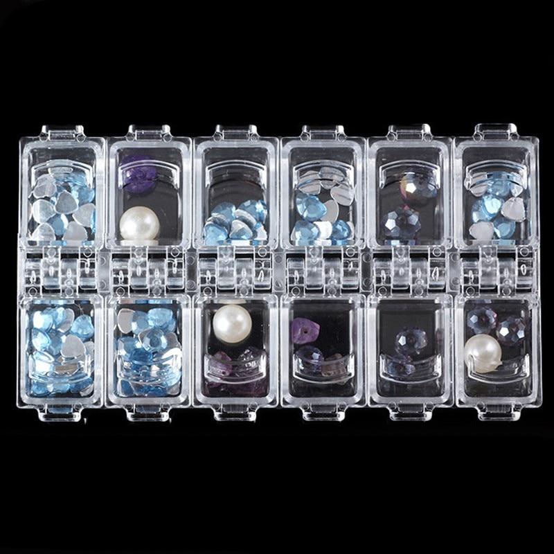 12 võrku tühi rhinestone ladustamise puhul Crystal helmed ehtekarp - Küünekunst - Foto 6