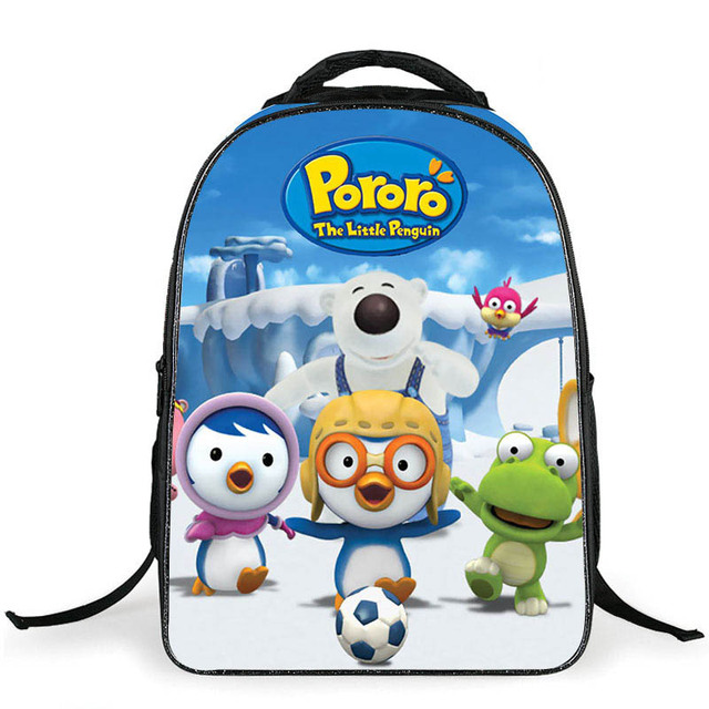 2016 New Pororo School Bags for Girls Boys Minion Backpack Cheap Shoulder Bag Wholesale Kids Backpacks Fashion Mochila Escolar