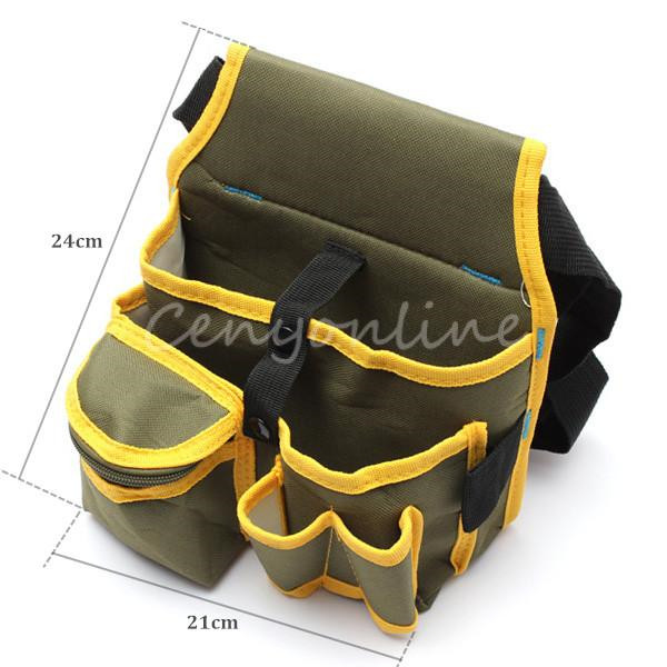 24 X 21cm Hardware Mechanics Canvas Tool Storage Bag Utility Pockets Pouch Utility Bag With Belt Garden Tool Home Bags