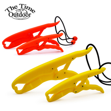ABS hard plastic fishing gripper red and yellow Solid Plastic Lipgrip Floating Fishing Tackle Peche Griper Pescaria de Pesca