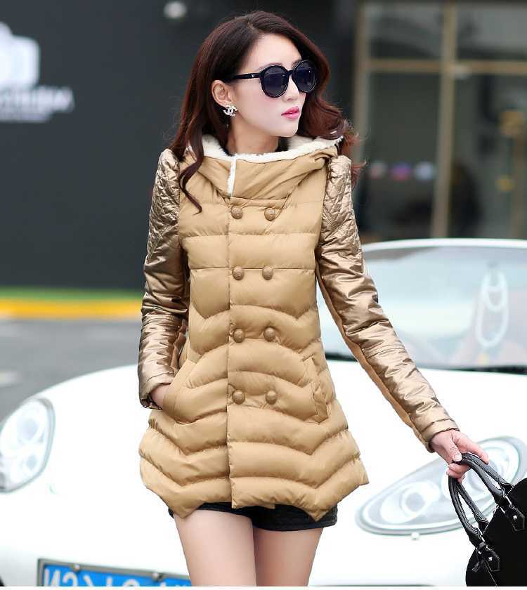 New Arrival Fashion Long Sleeves Irregularity Hem Hooded Collar Splicing Cotton Padded Wadded Jackets Overcoat Women Coat H5810 compatible for samsung ml 2850d 2851nd laser cartridge chip toner reset chip ml 2850