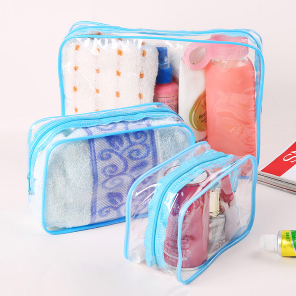Hot Travel Organizer Waterproof Toiletry Pouch Wash Makeup Storage Bags Clear Transparent Women Cosmetic BagHot Travel Organizer Waterproof Toiletry Pouch Wash Makeup Storage Bags Clear Transparent Women Cosmetic Bag