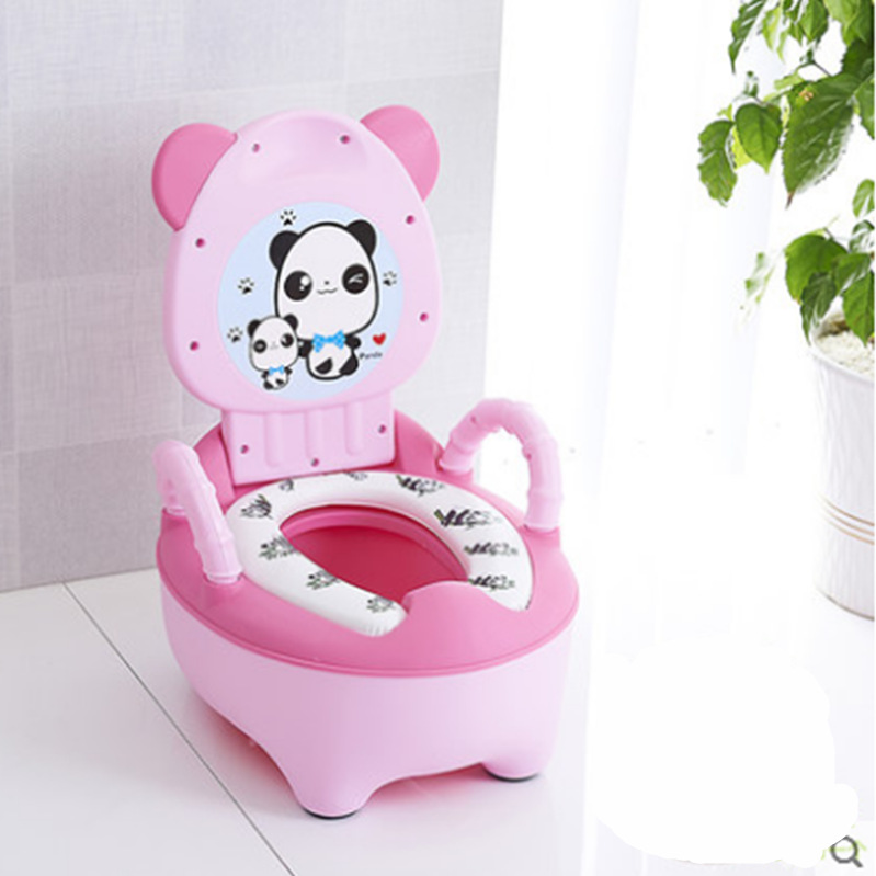 Portable Baby Potty Cute Kids Potty Training Seat Children's Urinals Baby Toilet Bowl Cute Cartoon Pot Training Pan Toilet Seat