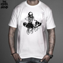 Cool skeleton / skull DJ men's shirt