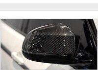 Сменных углеродного волокна зеркала Тюнинг автомобилей для BMW X3 X4 X5 X6 E70 E71 F15 F16 автомобильные аксессуары 2008 2016