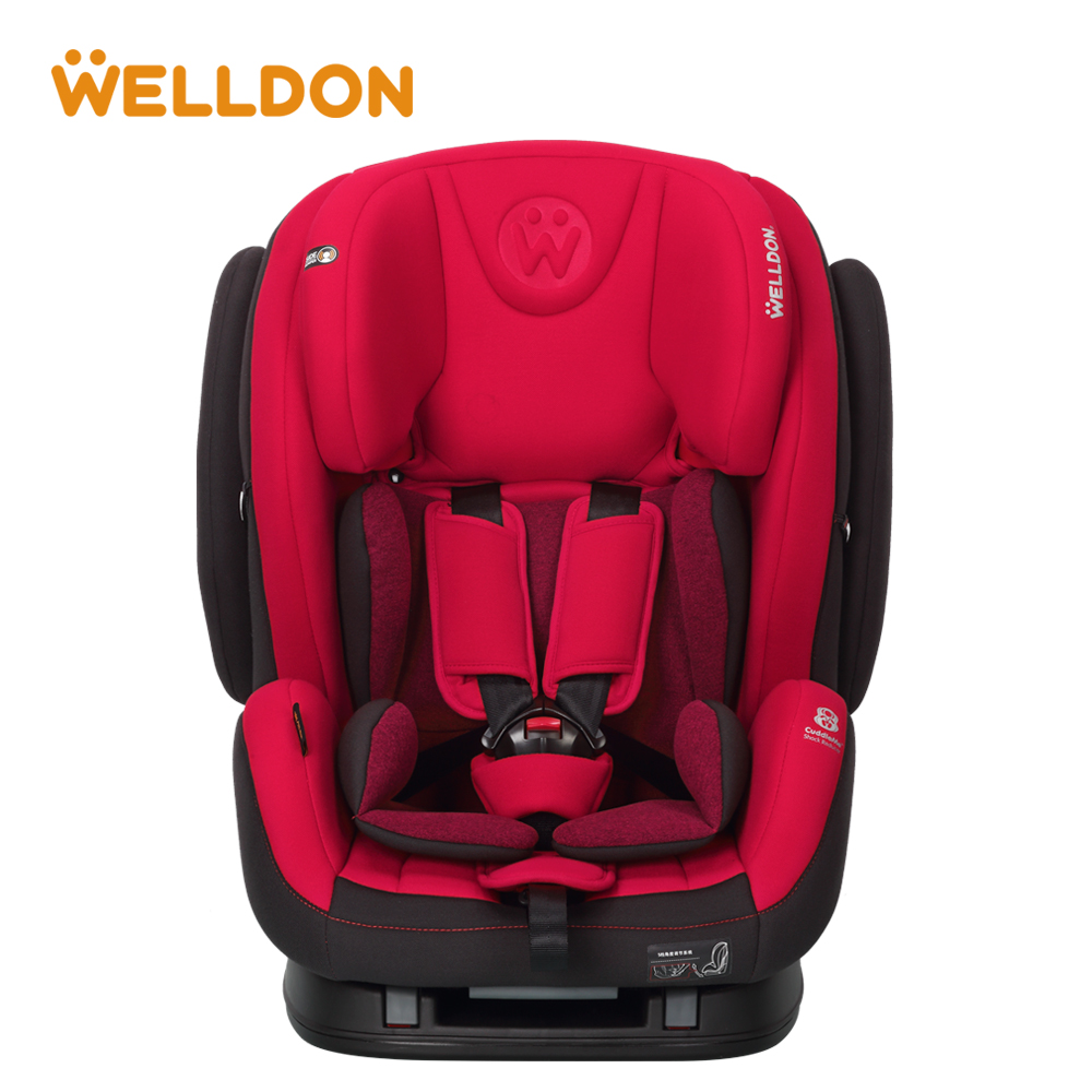 Welldon Baby Car seat 9 Months - 12 Years Flame Retardant Fabric Head Protection IOSfix Interface Suitable For Children ...