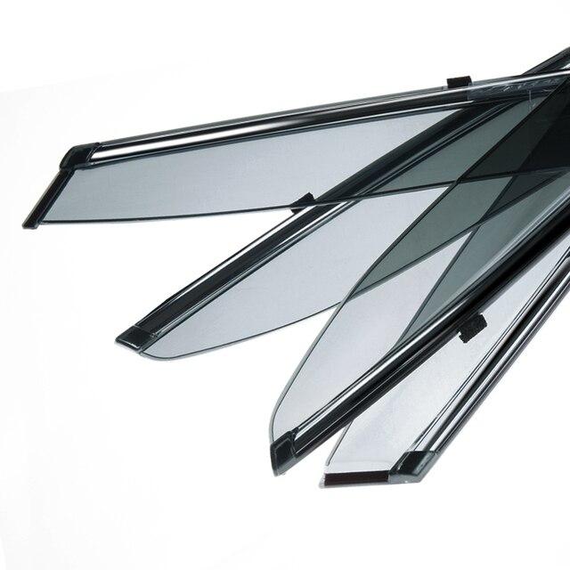 Hight Quality Rain Window Sun Visor Sunvisor Trim Exterior Windows Visor  For  Vw POLO 2011  4pcs/set