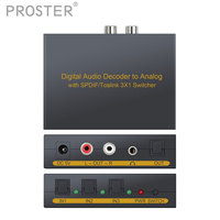 Audio Decoder DAC 3x1 Switcher Support 5 1 Channel Audio Switch SPDIF TOSLINK Optical Audio SPDIF