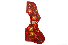 2pcs Tortoise Hummingbird Flower Decoration EJ200 Style Acoustic Guitar Pickguard Peel Stick Adhesive Back