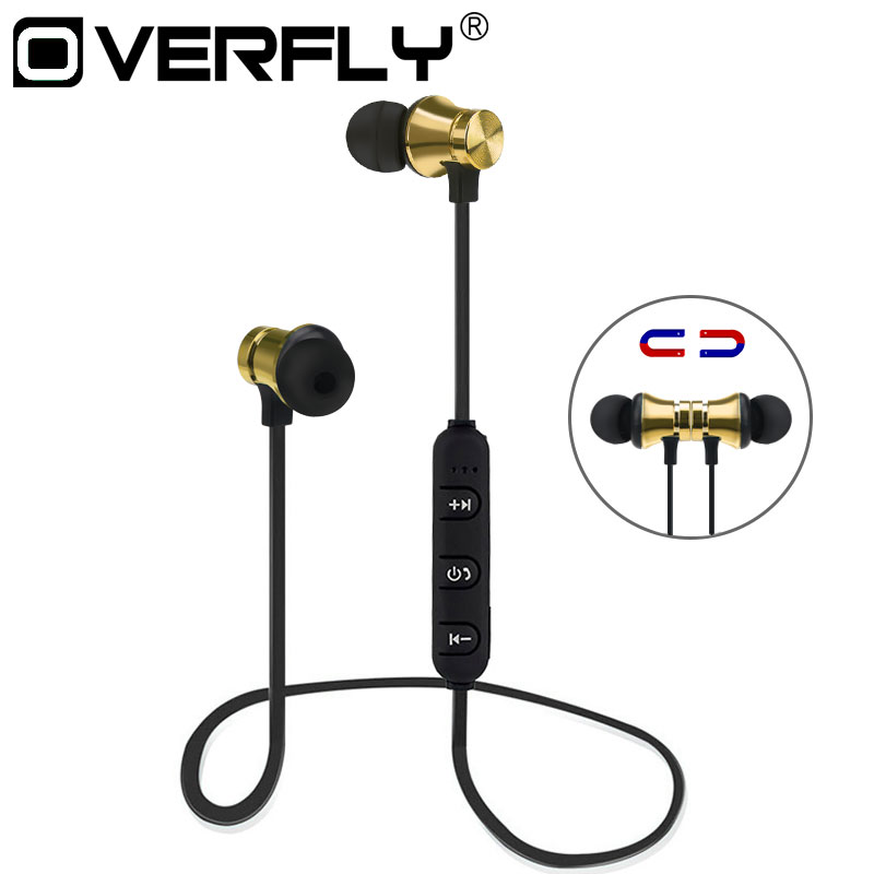 Overfly Bluetooth 4.1 Running In-ear Sweatproof Headset Wireless Sports Bluetooth Earphone Bass Stereo  with Mic for Samsung dacom g06 ipx5 waterproof armor sports headset wireless bluetooth v4 1 earphone ear hook running headphone with mic for iphone