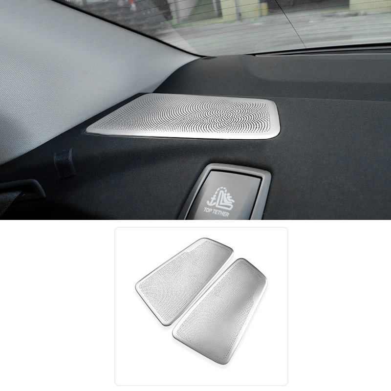 For BMW 5 Series G30 / 6 Series GT G32 2017 2018 Stainless Steel Interior Rear Row Speaker Frame Cover Trim 2pcs quantum alpha series 6 5 inch component speaker