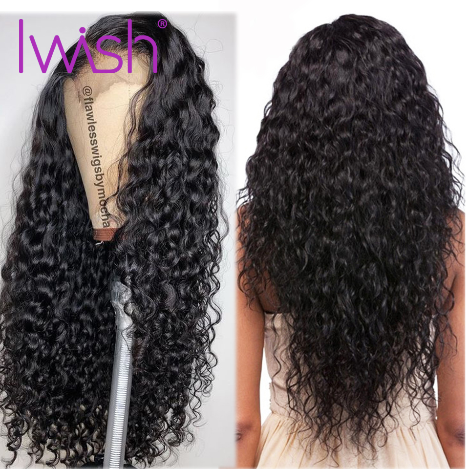 Iwish Water Wave Wig Lace Front Wigs Lace Front Human Hair Wigs With Baby hair Brazilian