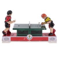 Funny Kids Toy Wind Up Toys Playing Ping Pong Wind up Clockwork Vintage Tin Toy Collectable Birthday Gift for Children Adults