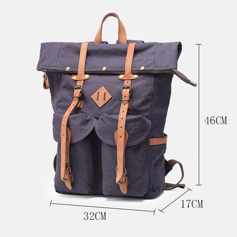 size of the svaldbard canvas rucksack from Eiken
