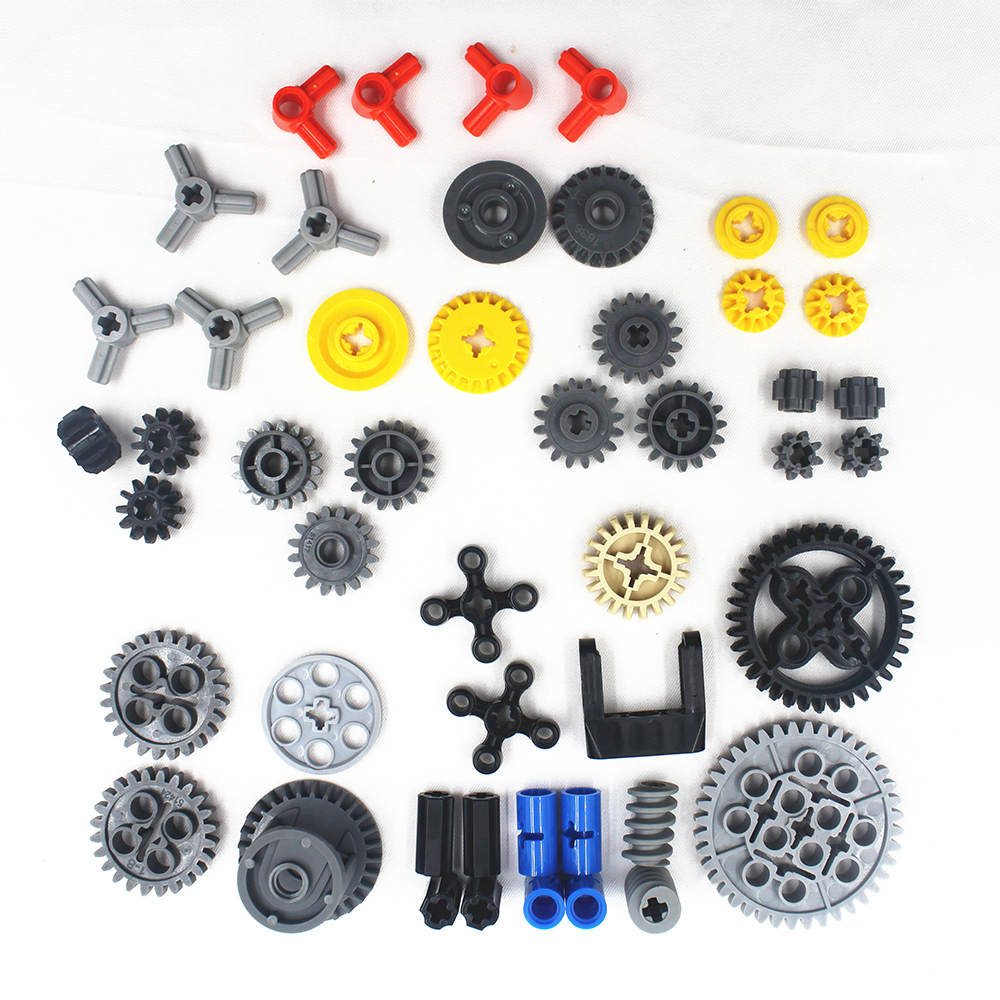 49pcs Technic Series Parts Car Model Building Blocks Set Compatible With Lego For Kids Boys Toy Building Bricks Gears