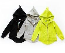 New 2016 The Dinosaur Hoodies Kids Unisex Jackets & Coat Boys Girls Outerwear Baby Cardigan Spring Autumn Winter Sweatshirts