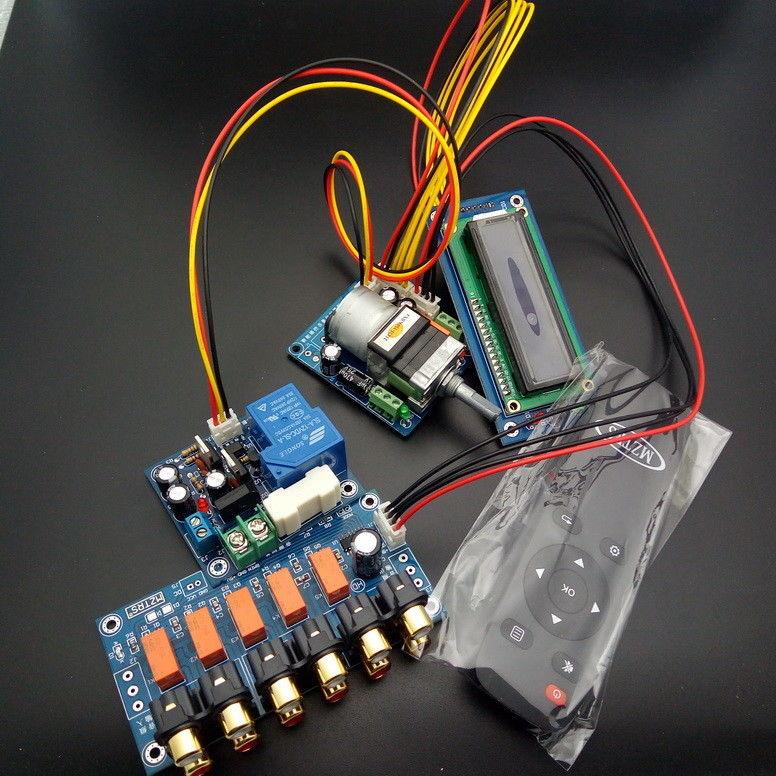 ZEROZONE Assembeld Motor Preamp Remote Volume Control Board Display PSU Input Switch