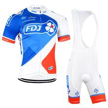 Hot Sale! FDJ Cycling Jersey 2016 pro team ropa ciclismo hombre Men's/Cycling Clothing Bike bisiklet Breathable Sportswear