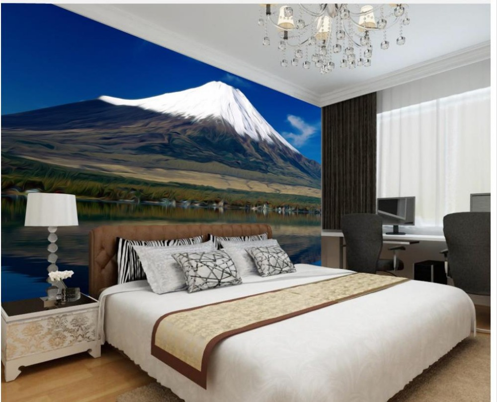 Wallpaper Murals For Bathrooms Us 36 3d Bathroom Wallpaper Snow Mountain Living Room Background Wall Photo Wall Murals Wallpaper Home Decoration In Wallpapers From Home