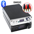 FX D802C Versión Bluetooth Inalámbrico de Audio de Entrada USB/AUX/Óptico/Coaxial Pura Amplificador de Audio Digital 24Bit/192 KHz 80 W + 80 W OLED